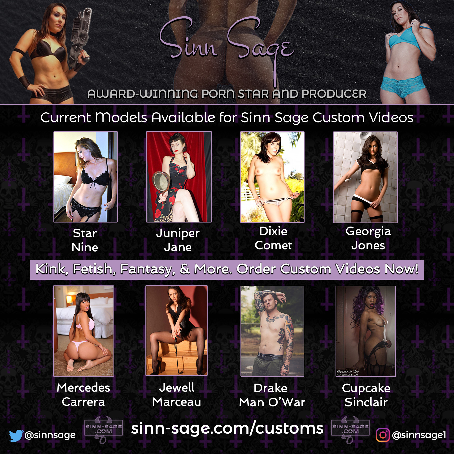 Sinn Sage Co-Stars | If you can't see this, click link in top of email to view in your browser